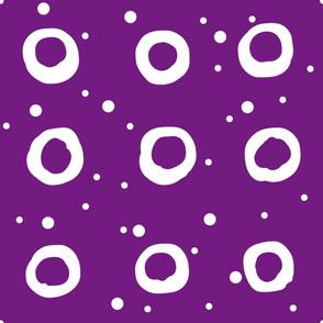 Monotone Ring and Spot Purple