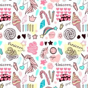 Pattern with unicorns