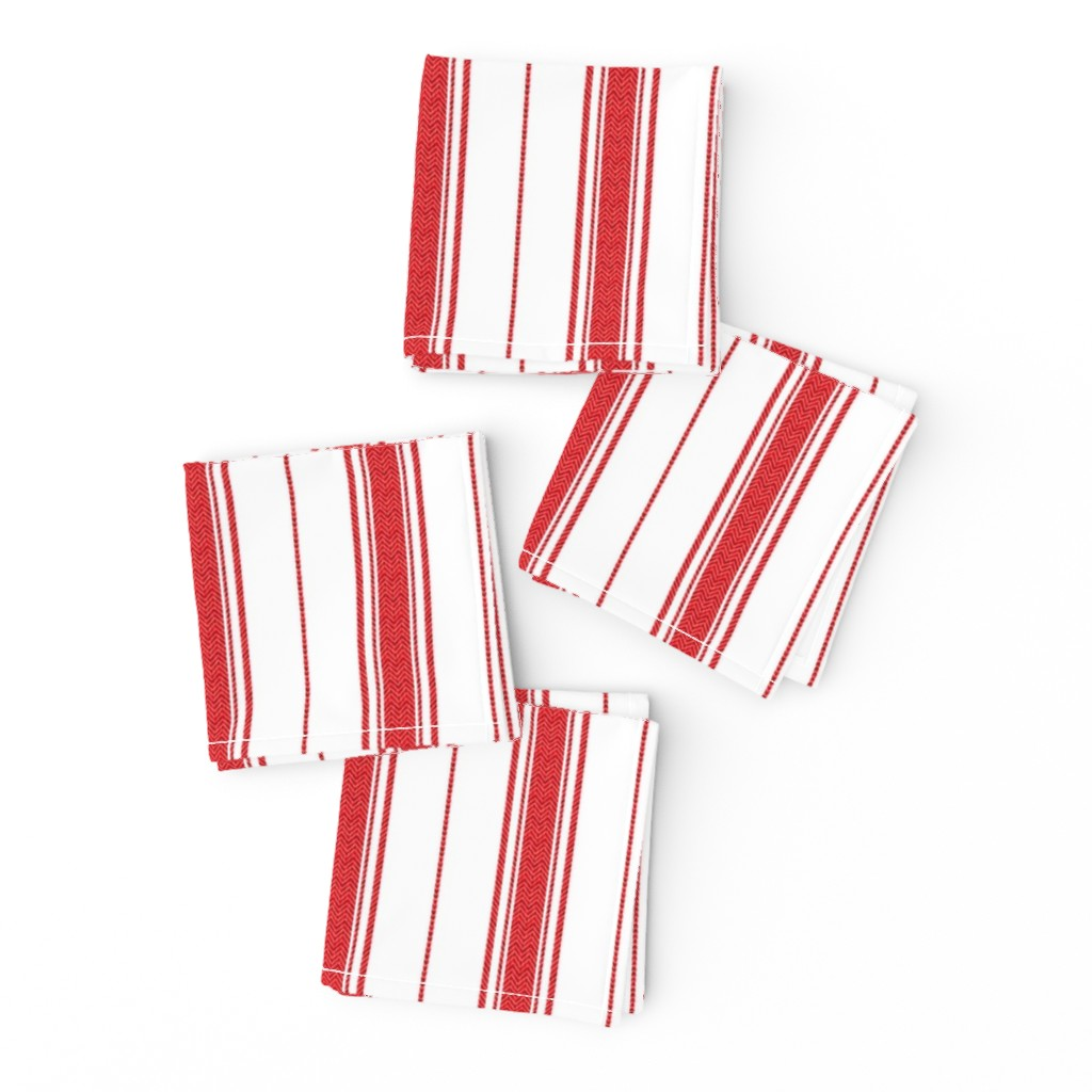 Frizzle Cocktail Napkins featuring Chevron Stripe in Rouge by gigi&mae
