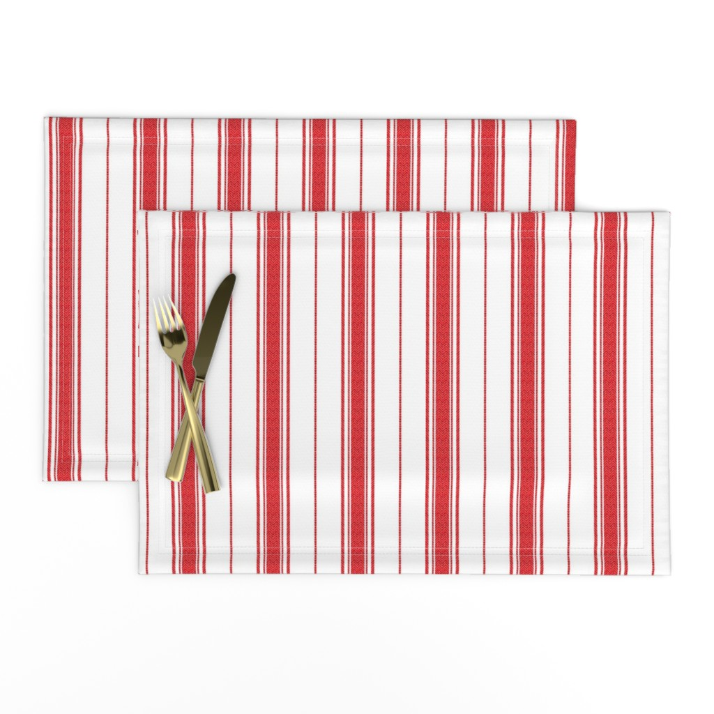 Lamona Cloth Placemats featuring Chevron Stripe in Rouge by gigi&mae