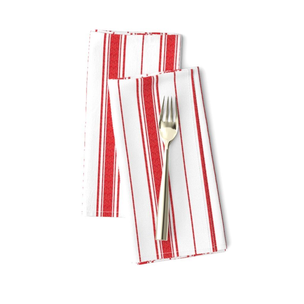 Amarela Dinner Napkins featuring Chevron Stripe in Rouge by gigi&mae