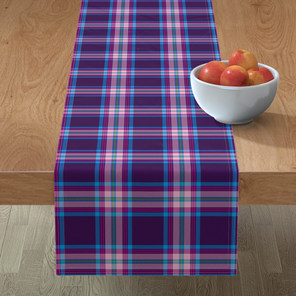 Minorca Table Runner featuring Tramaine Plaid in Gypsy by gigi&mae