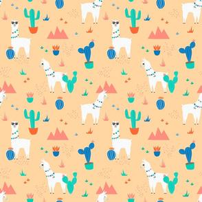 Summer Llamas in the Desert