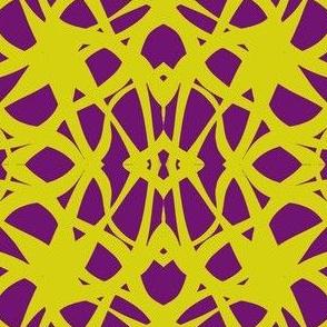 Crossed Waves-Yellow/Violet