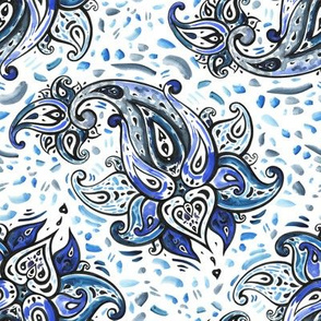 Watercolor Paisley