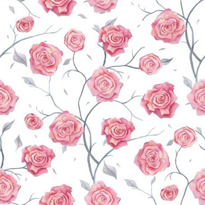 Roses. Cute light pattern.