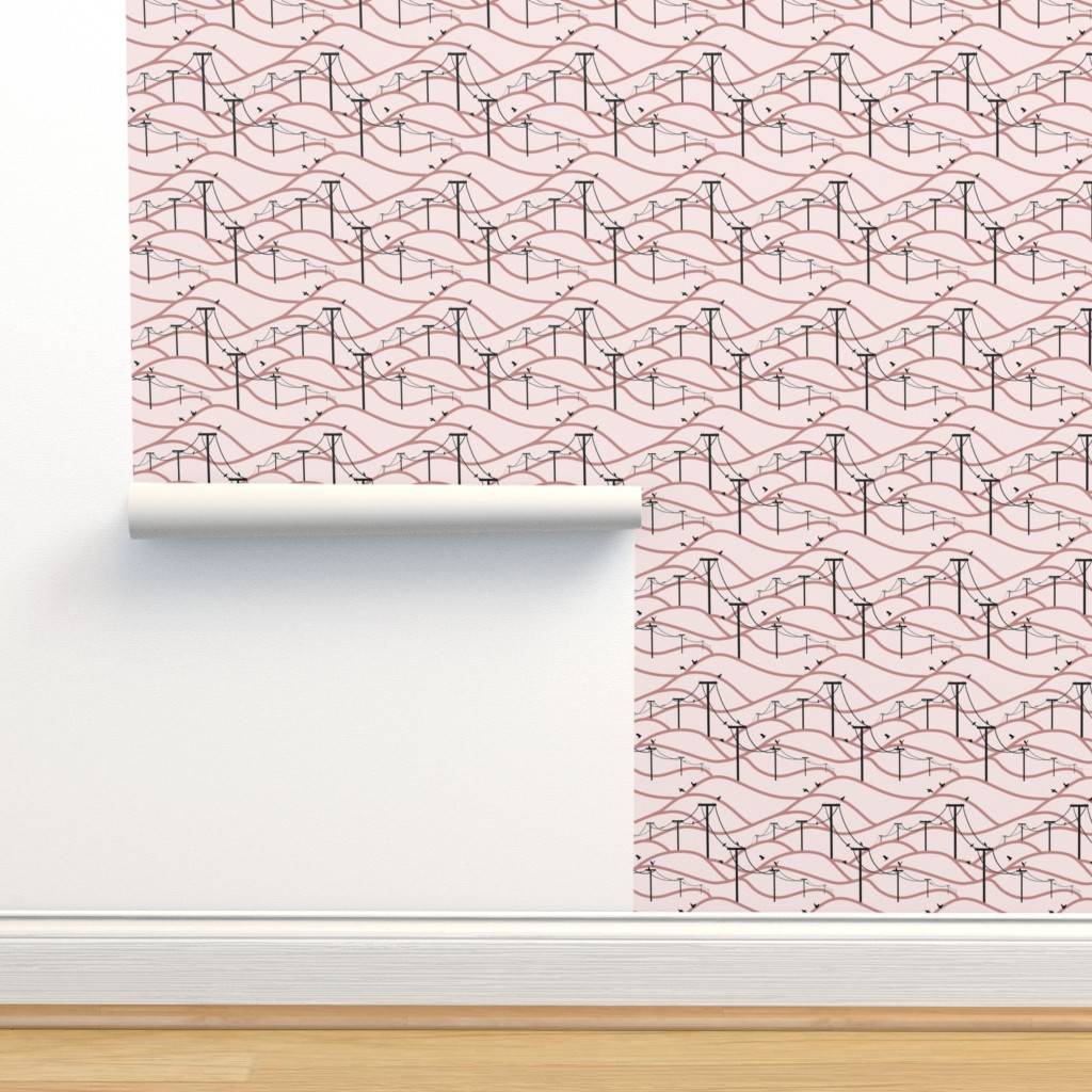 Pink Birds On A Wire On Isobar By New Branch Studio Roostery