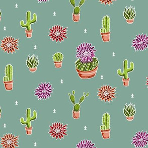 Cacti-White-Spoonflower