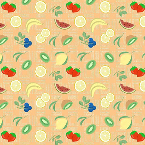 fruit fabric peach