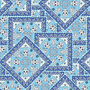 Skull Bandana Mexican blues