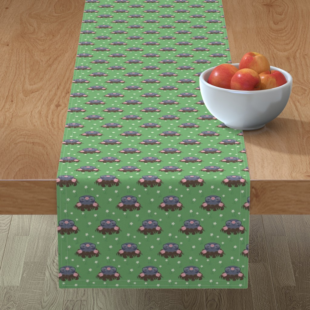 Minorca Table Runner featuring Cute little moles by petitspixels