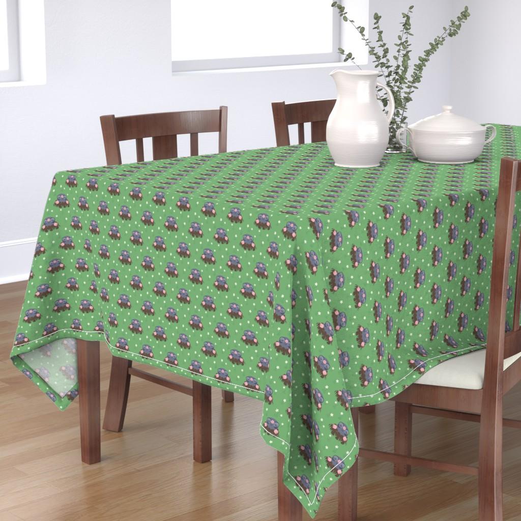 Bantam Rectangular Tablecloth featuring Cute little moles by petitspixels