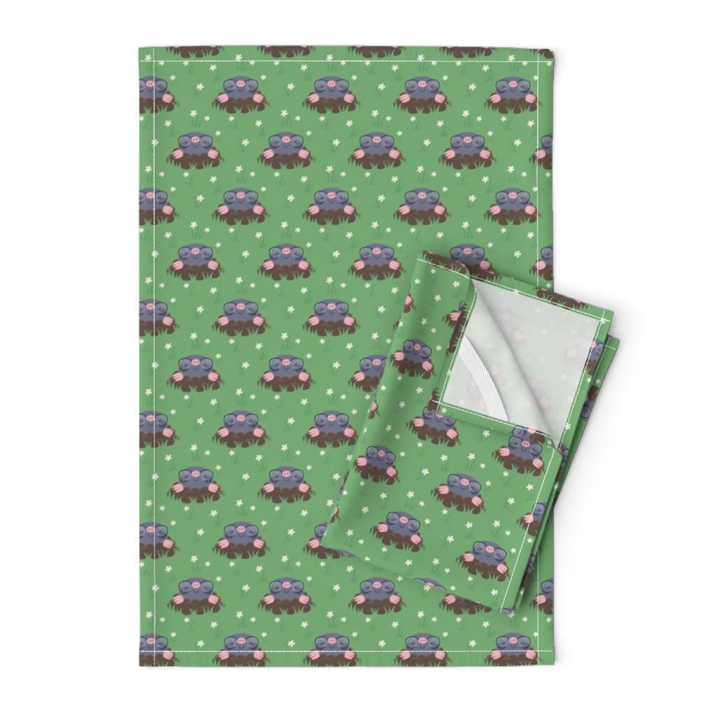 Orpington Tea Towels featuring Cute little moles by petitspixels