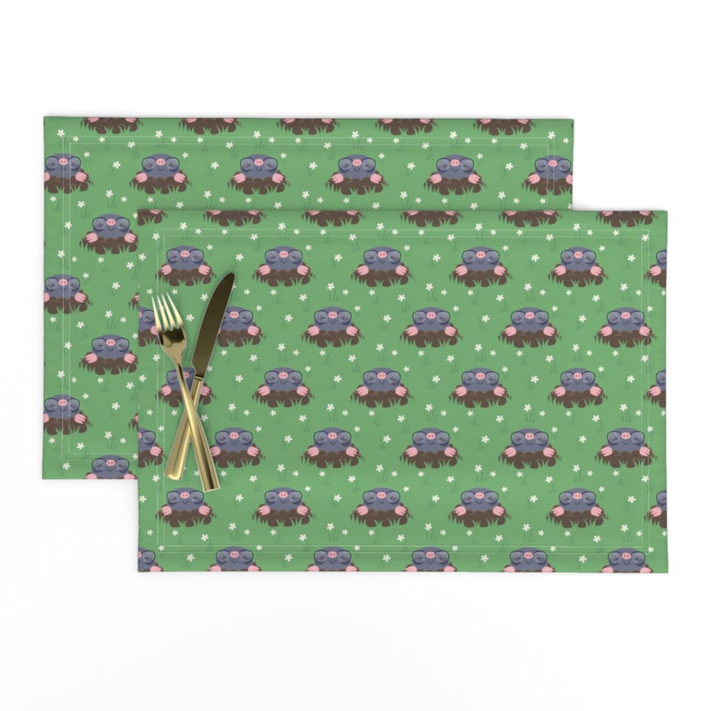 Lamona Cloth Placemats featuring Cute little moles by petitspixels