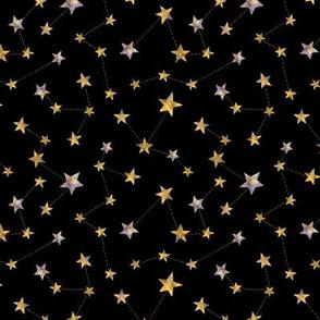 watercolor constellation stars