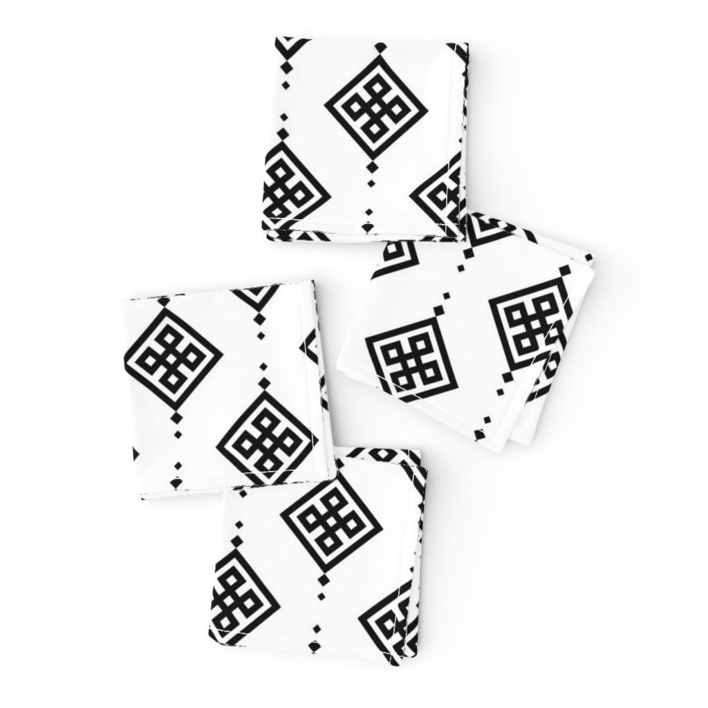 Frizzle Cocktail Napkins featuring Black geometry by brazhnikova_ekaterina
