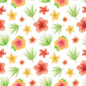 hawaii flowers and leaves
