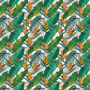 Tropical banana palm leaves pattern