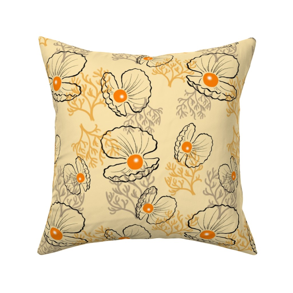 Catalan Throw Pillow featuring Sea pearls by sandra_bereg