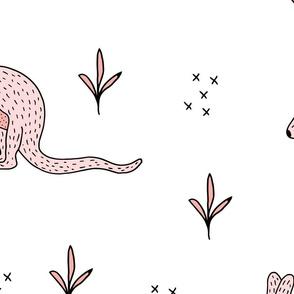 Sweet Kangaroo down under Australian animals  kids design pink girls jumbo