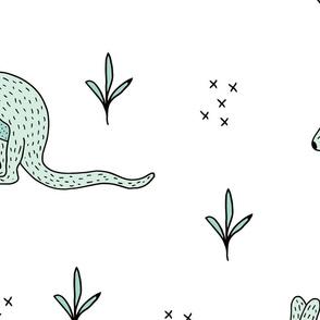 Sweet Kangaroo down under Australian animals  kids design mint gender neutral jumbo