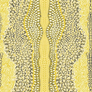 ZebraDeer in Mustard & Charcoal