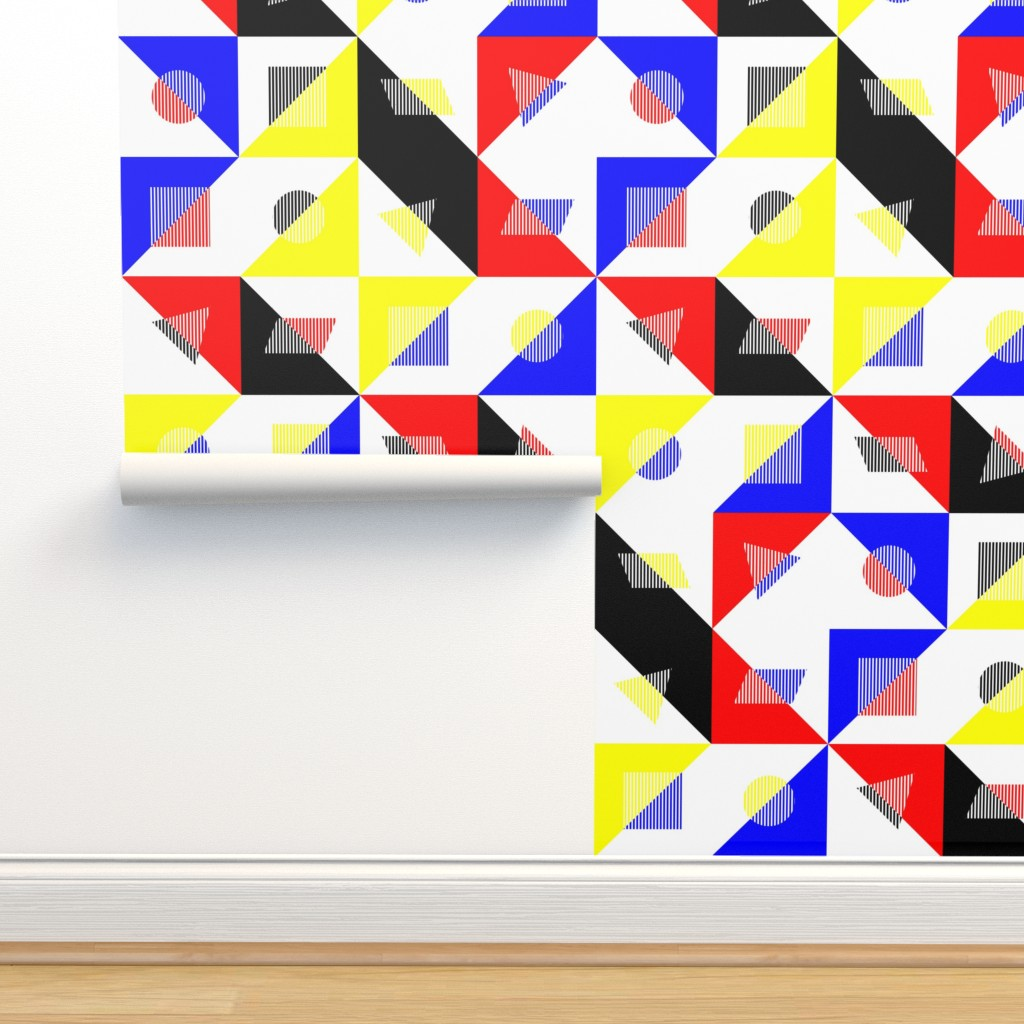 Isobar Durable Wallpaper featuring Bauhaus Checker by wickedrefined