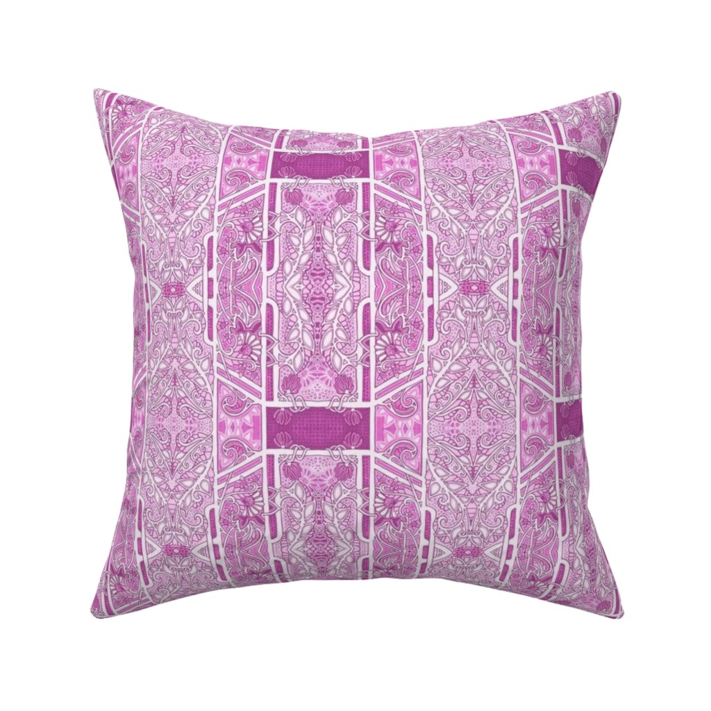 Catalan Throw Pillow featuring In the Pink of Spring by edsel2084