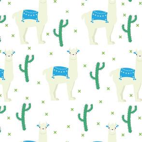 Llamas and Llamas white