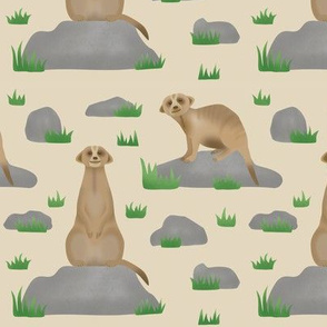 Meerkat friends (beige)