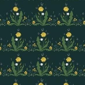 Cute Spring dandelions seamless pattern