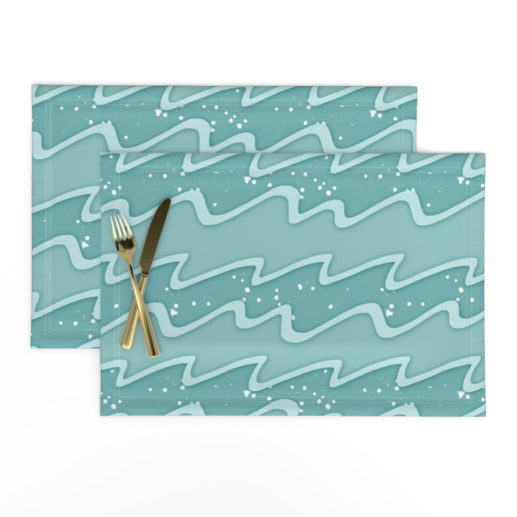 Lamona Cloth Placemats featuring Azure waves by sandra_bereg