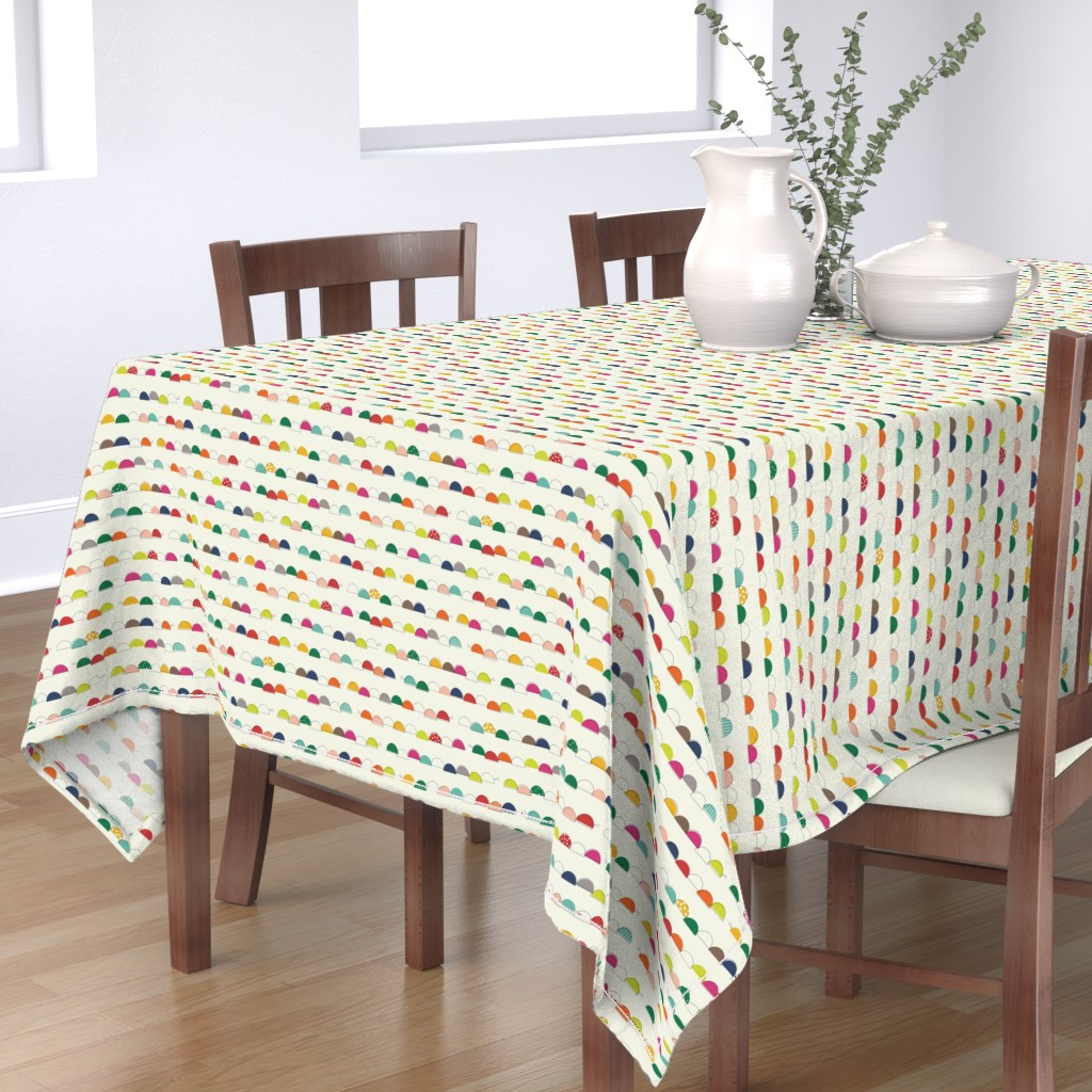 Bantam Rectangular Tablecloth featuring Caterpillars giggle as they wiggle by katerhees