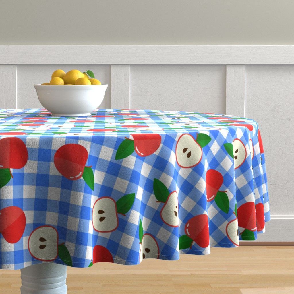 Malay Round Tablecloth featuring apple3 by sandystorm