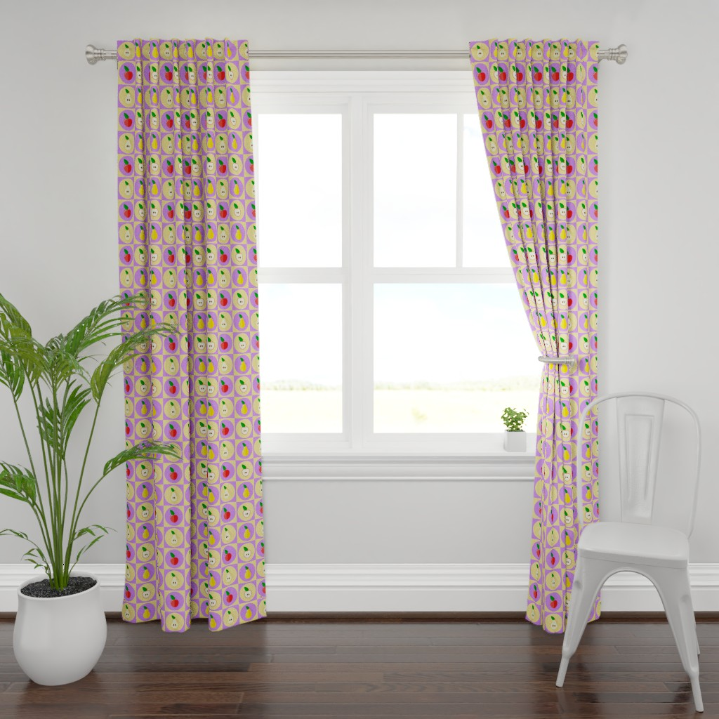 Plymouth Curtain Panel featuring applepear by sandystorm