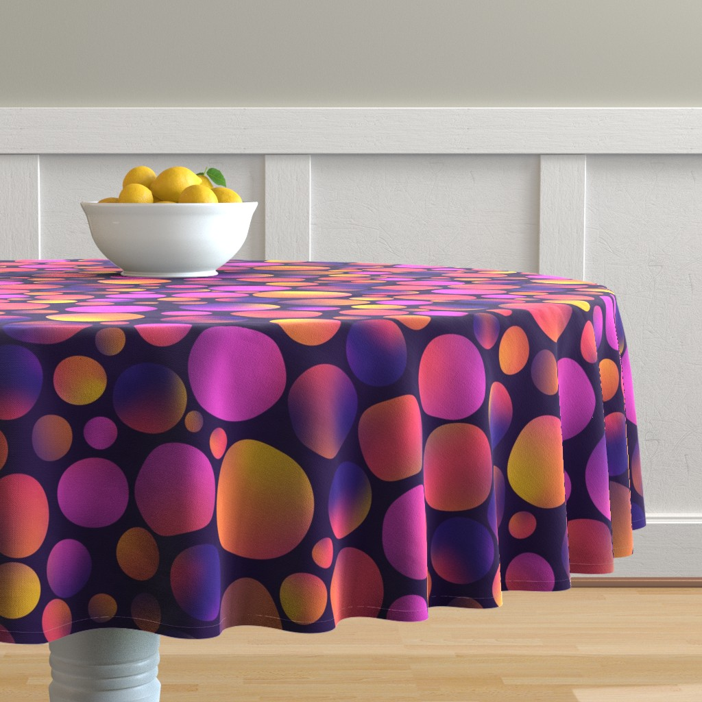 Malay Round Tablecloth featuring pat1 by sandystorm