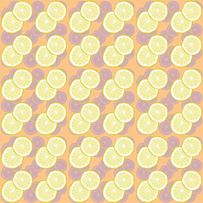 Lemon Slices in Peach