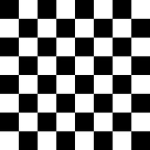 "checkerboard black and white 1"" one inch"