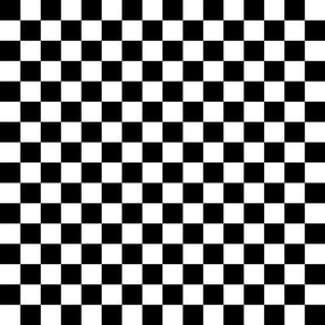 "checkerboard black and white .5"" - inspired by..."