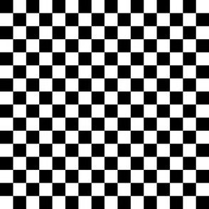 """checkerboard black and white .5"""" half inch"""