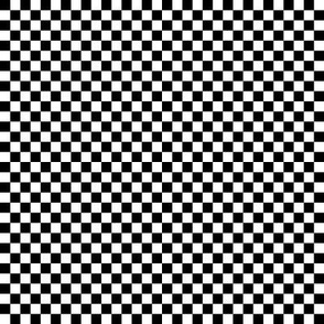 "checkerboard black and white .25"" quarter inch"
