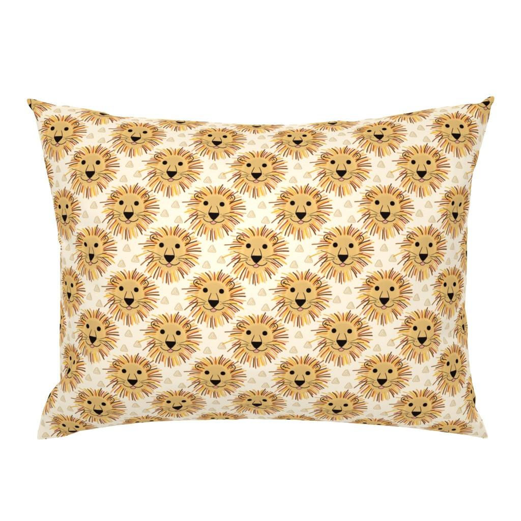 Campine Pillow Sham featuring Lion Safari by thewellingtonboot