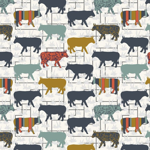 Cow Grid - Small - H White