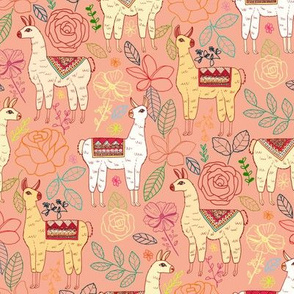 Mexican Llamas With Plants On Tucson Coral