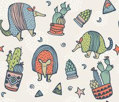 Armadillos & Cactus