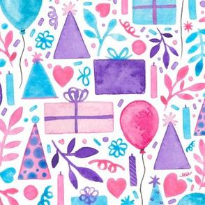 Pink Birthday Party Pattern