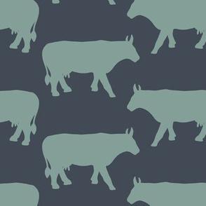 Cow Side - Blue Denim