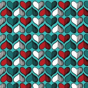 hearts Pattern Navy