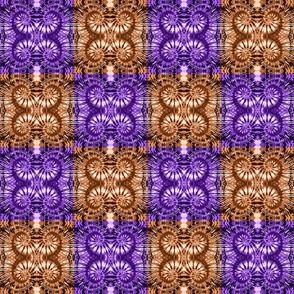 Purple & Bronze Checkered Spirals