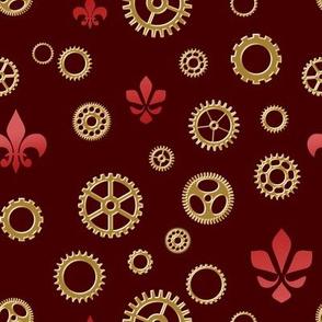 Flur de Cog - Bronze and Red